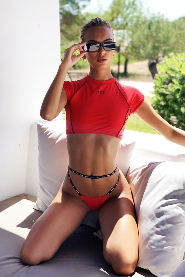 Hugz Plavky Tokyo T-Shirt Bikini Red - 1