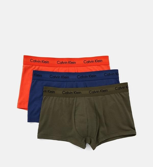 Calvin Klein 3Pack Boxerky Orange, Blue, Khaki LR - 1