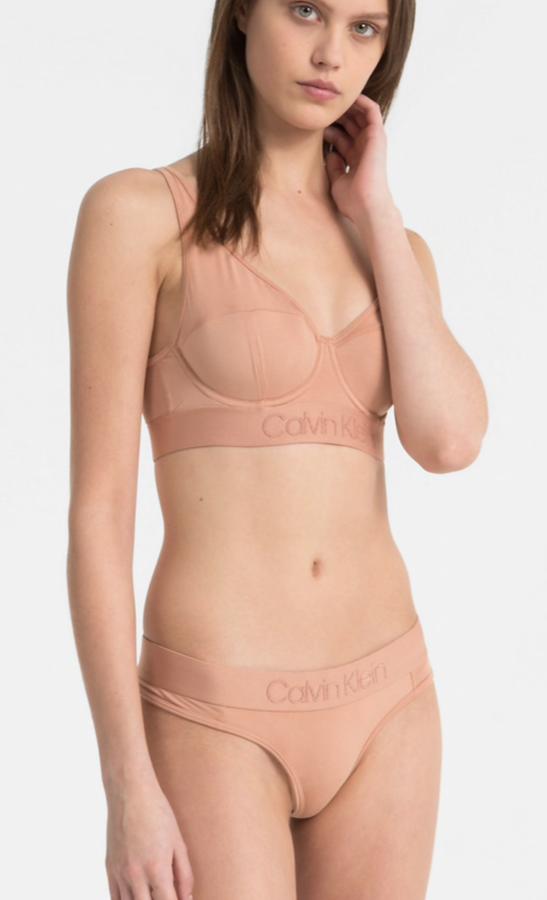 Calvin Klein Tanga Tonal Logo Tělové, L - 1