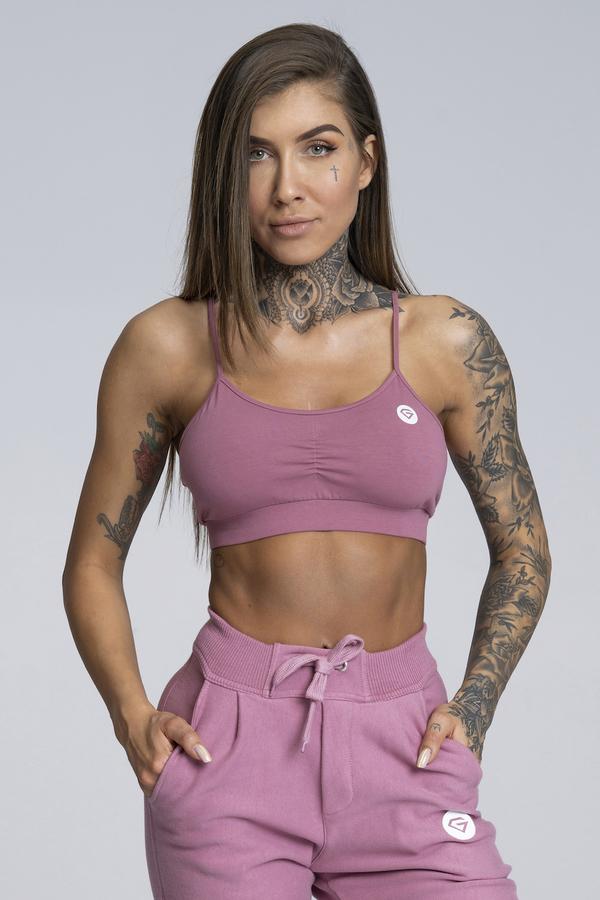 Gym Glamour Podprsenka Simply Dirty Pink, M