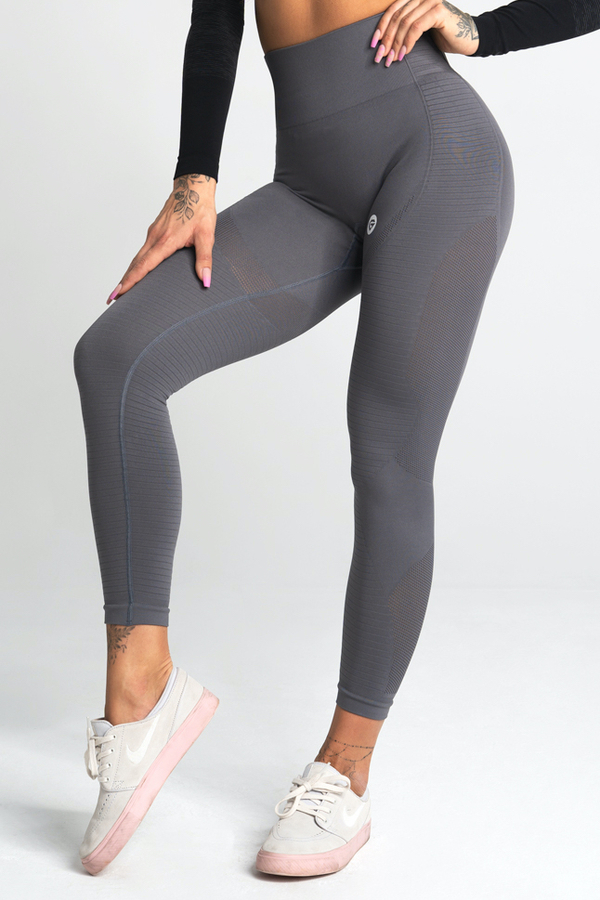 Gym Glamour Legíny Bezešvé Silvery, S - 1