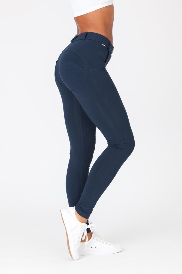 Boost Pants Mid Waist Dark Blue - 1