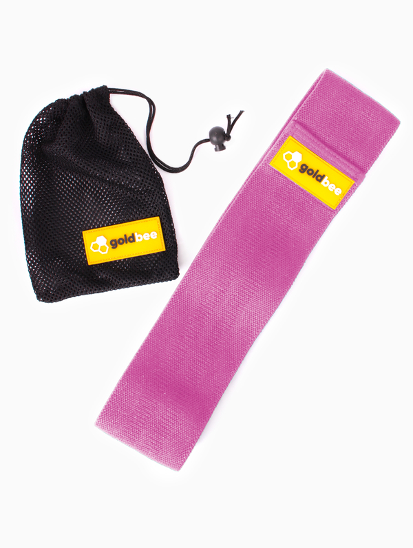 GoldBee Textilní Odporová Guma - Růžová, S