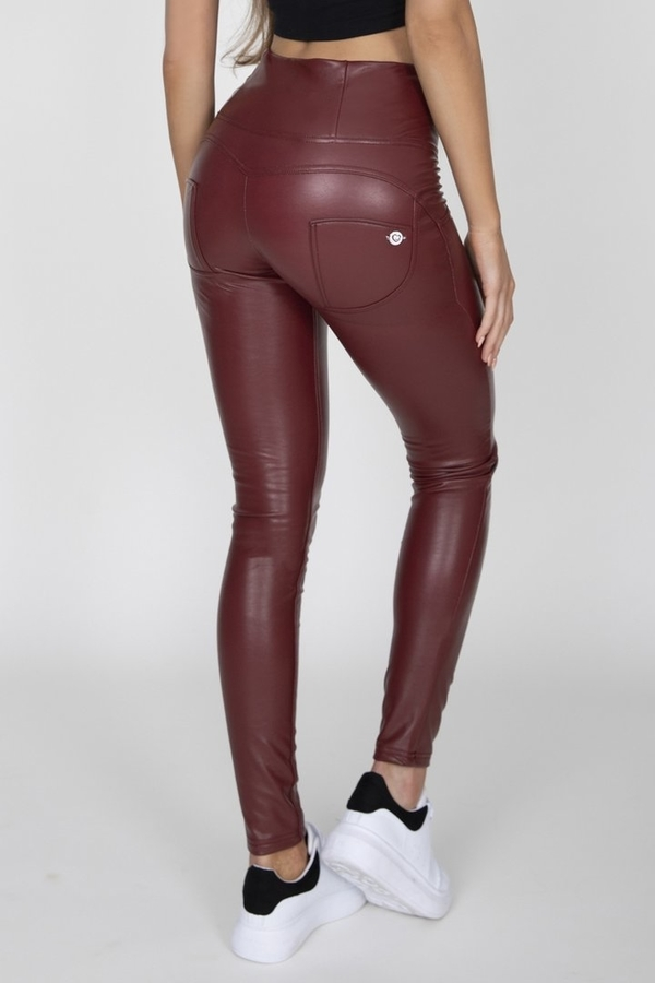 Hugz Wine Faux Leather High Waist, XL - 1