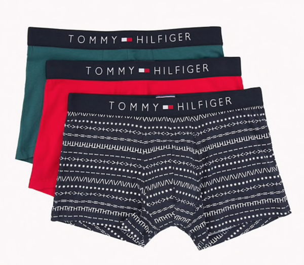 Tommy Hilfiger 3Pack Boxerky Red, Green, Navy - 1