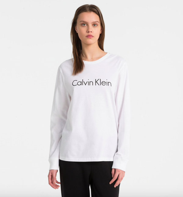 Calvin Klein Tričko Logo White, S - 1