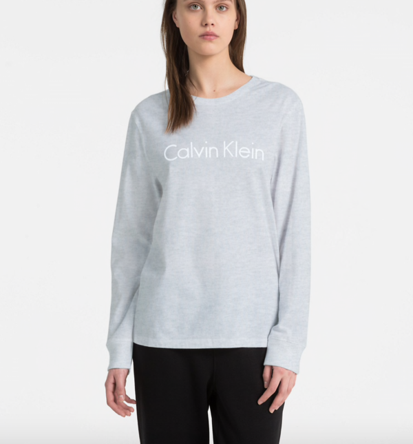 Calvin Klein Tričko Logo Grey, L - 1