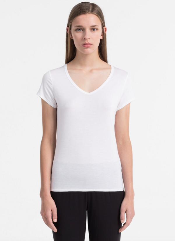 Calvin Klein Tričko Luxe White - 1