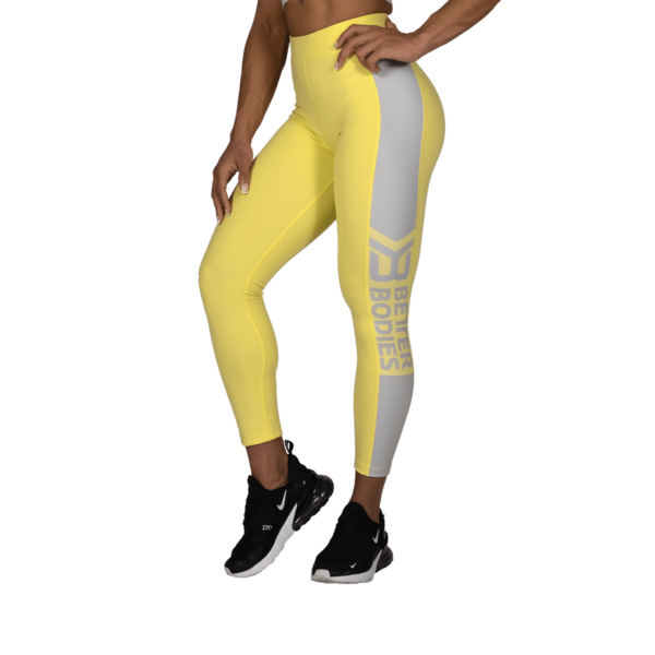 Better Bodies Legíny Chrystie High Lemon Yellow, S - 1