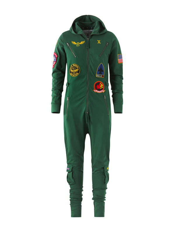 OnePiece Aviator Onesie Jungle Green, XL - 1