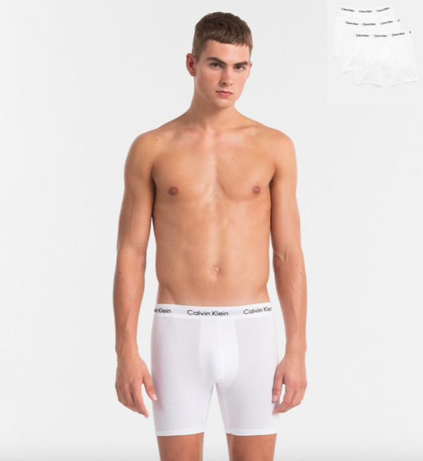 Calvin Klein 3Pack Boxerky Dlouhé Bílé, L - 1