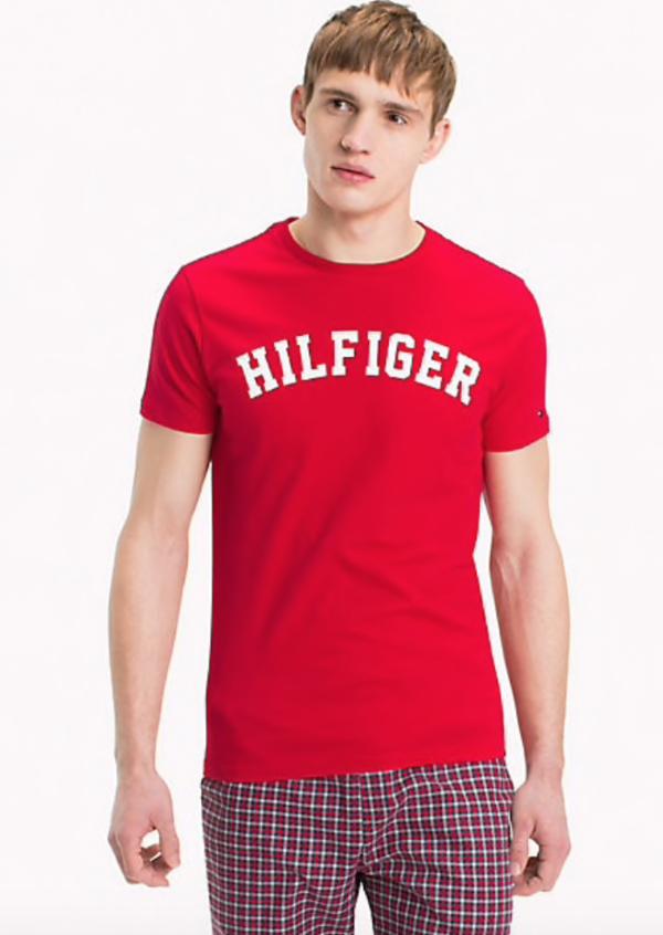 Tommy Hilfiger Pánské Tričko Iconic Red - 1