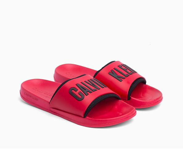 Calvin Klein Pantofle Intense Power Red - 1