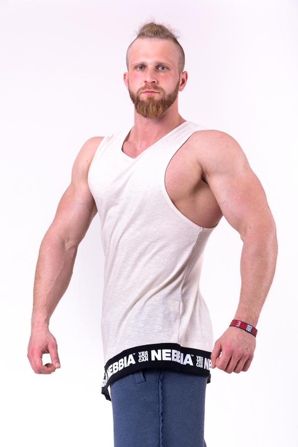 Nebbia Tílko 141 Be Rebel Pánské Béžové, M - 1