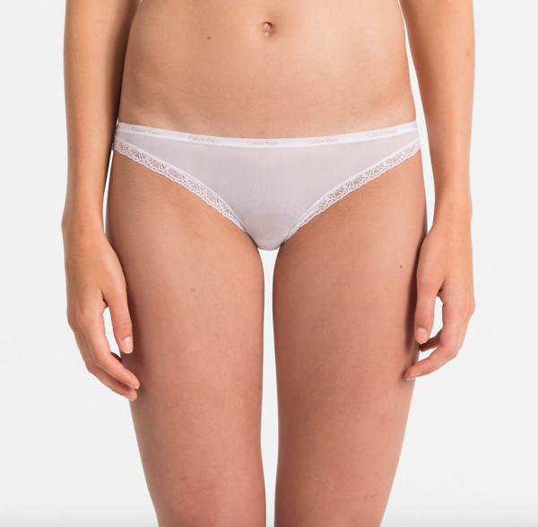 Calvin Klein Kalhotky Bottoms Up Bílé, M - 1