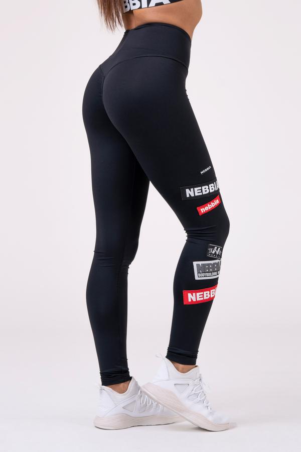 Nebbia Legíny 504 High Waist Labels - Černé, L - 1
