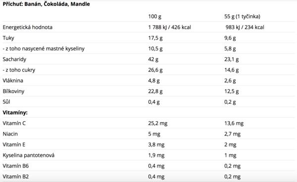 Nutrend Protein Bar Banánová - 2