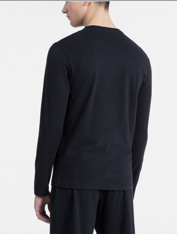 Calvin Klein Tričko S Dlouhým Rukávem Černé - 2
