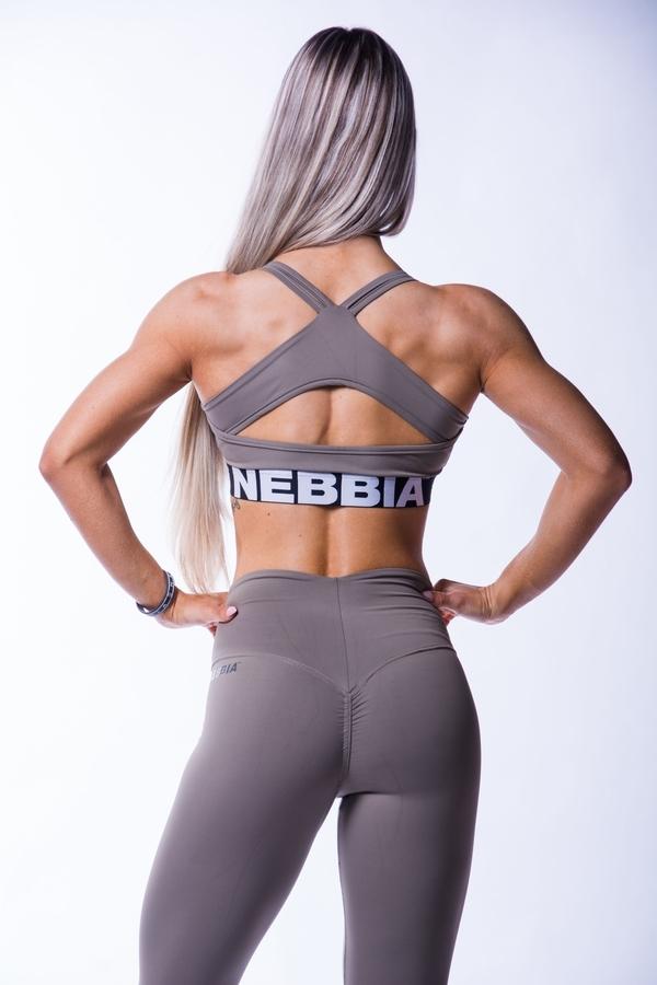 Nebbia 620 Open Back Bra Mocha, L - 2