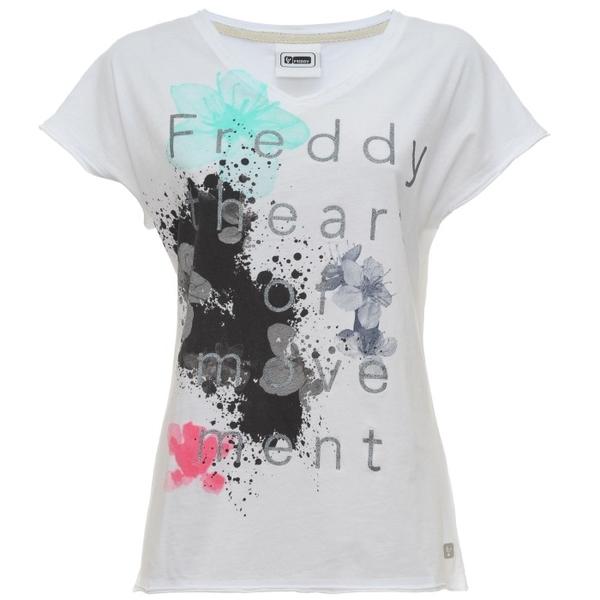 Freddy Tričko Bílé S Třpytivým Nápisem - 2
