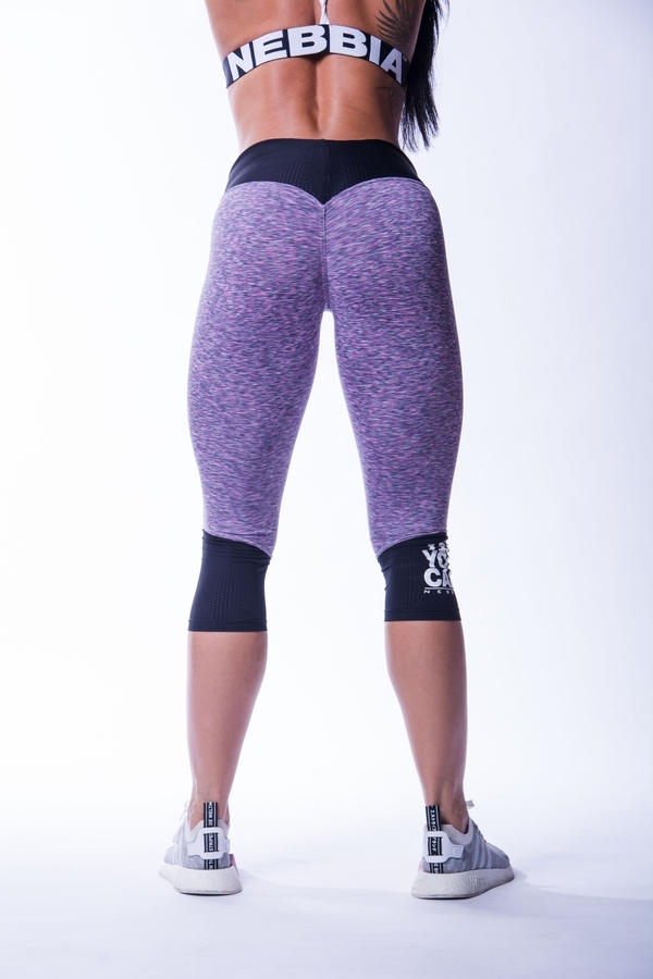 Nebbia 607 High Waist 3/4 Legíny Purple - 2