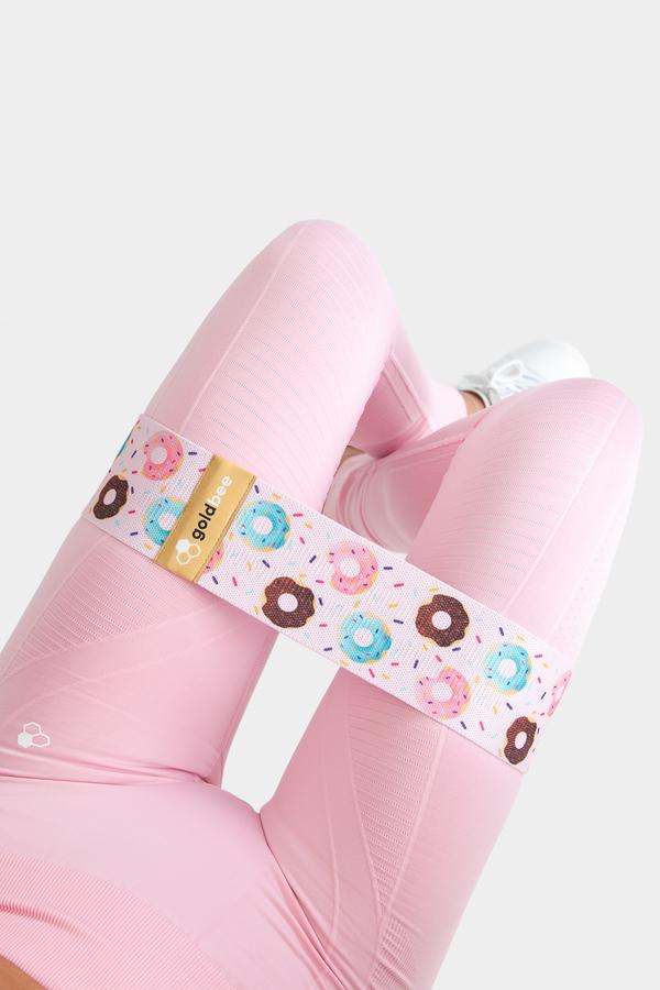 GoldBee Posilovací guma BeBooty Pink Donuts - 2