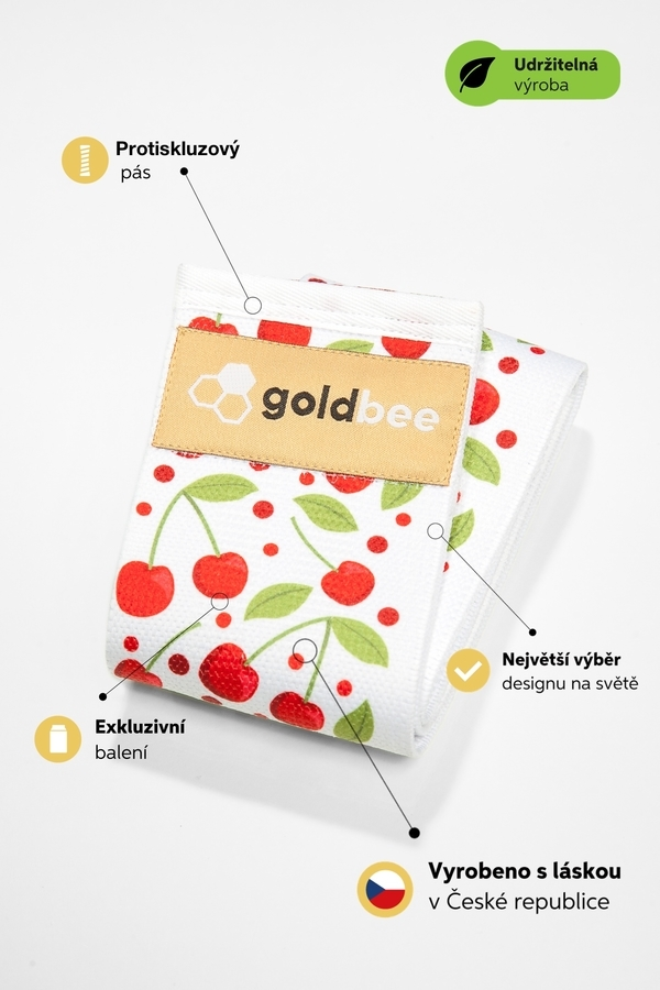 GoldBee Posilovací guma BeBooty Třešňová - 2