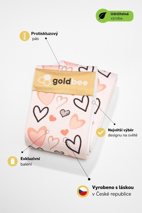 GoldBee Posilovací guma BeBooty Srdíčková - 2
