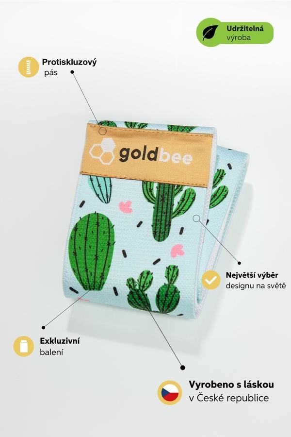 GoldBee Posilovací guma BeBooty Cactusland - 2