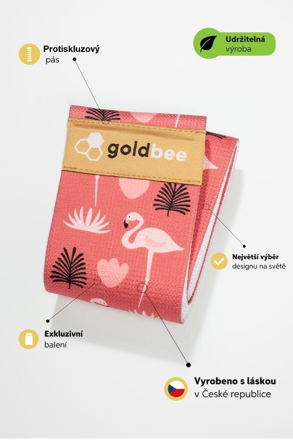 GoldBee Posilovací guma BeBooty Flamingo - 2