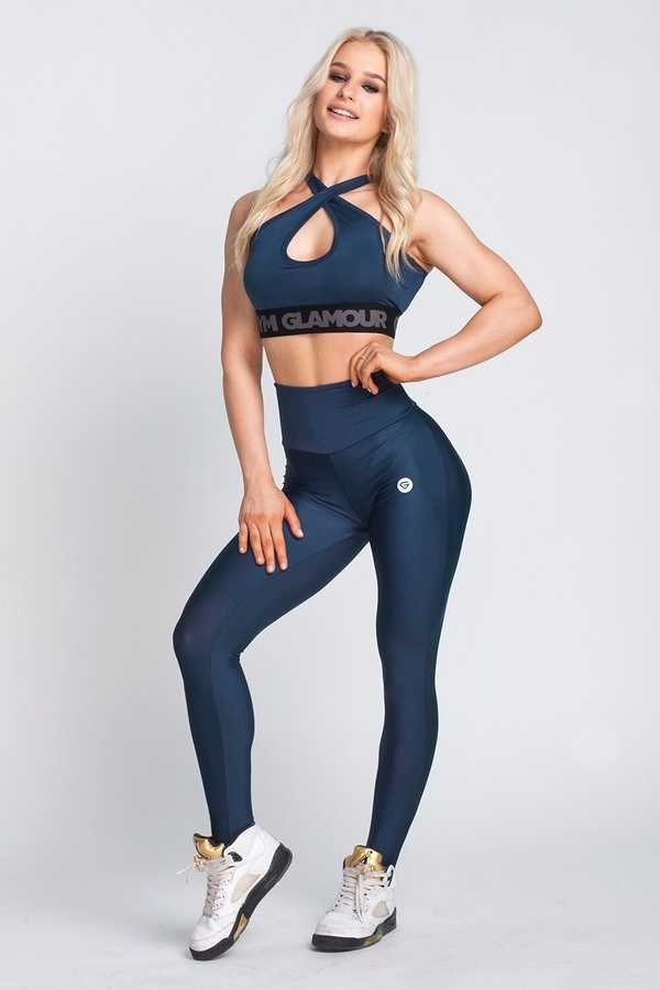 Gym Glamour Legíny High Waist Midnight Navy, L - 2