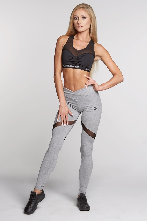 Gym Glamour Legíny Mixed Grey Heart - 2