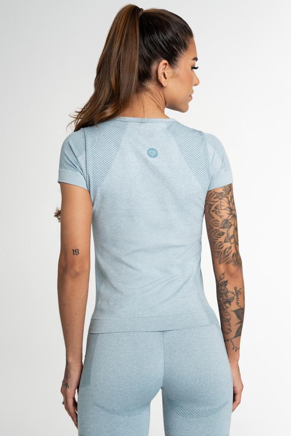 Gym Glamour Tričko Bezešvé Fusion Blue, XS - 2
