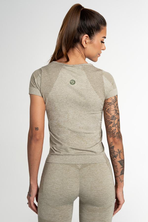 Gym Glamour Tričko Bezešvé Fusion Khaki, M - 2