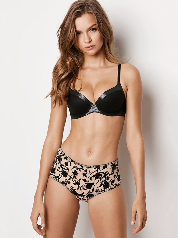 Victoria´s Secret Shorty Black Velvet Floral, M - 2