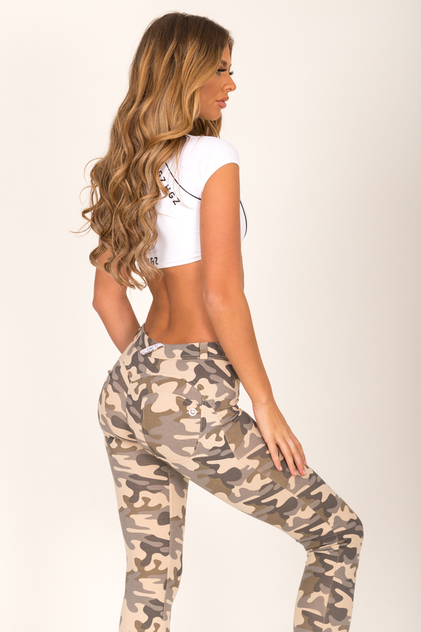 Hugz Camo Light Low Waist Jegging, L - 2