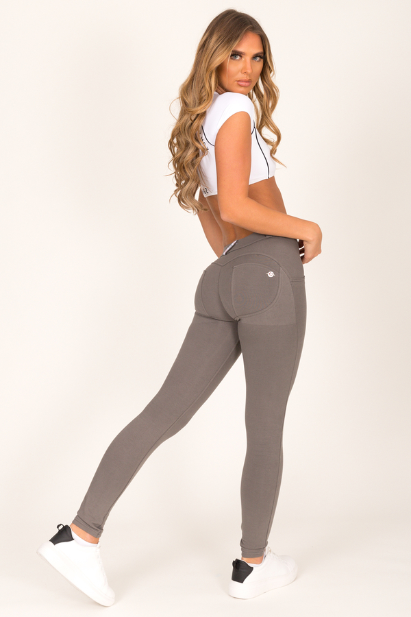 Hugz Olive Low Waist Jegging, L - 2