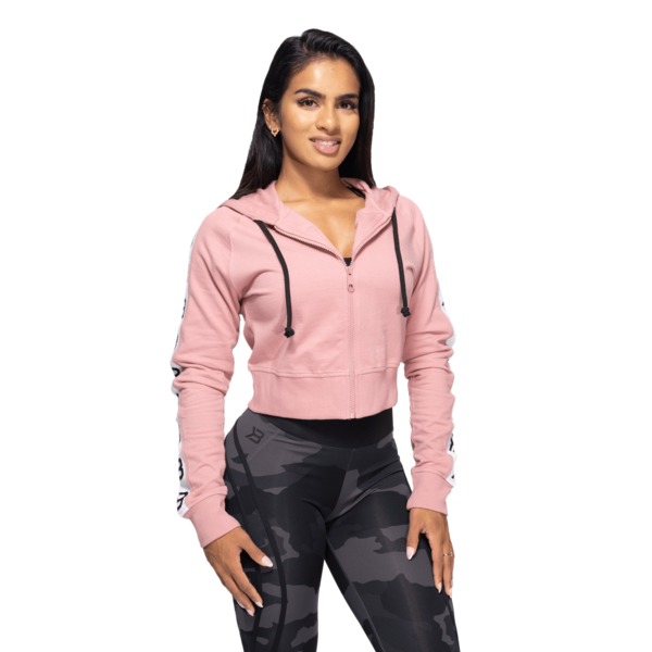Better Bodies Crop Mikina Vesey Heather Pink, L - 2