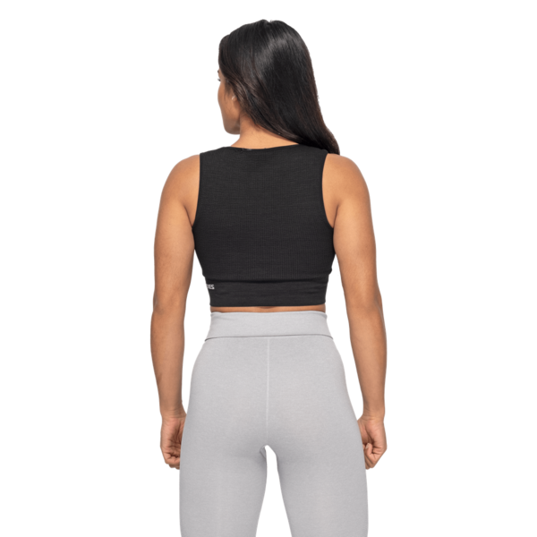Better Bodies Top Rib Seamless Black Melange, S - 2