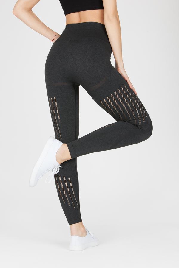 Naine 4.0. Bezešvé Legíny Stripes - Black, M - 2