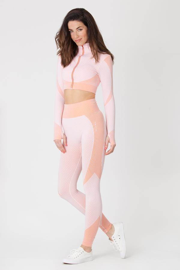 Naine 4.0. Bezešvé Legíny Curve - Pink, M - 2