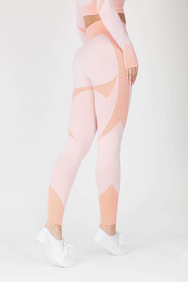 Naine 4.0. Bezešvé Legíny Curve - Pink - 2