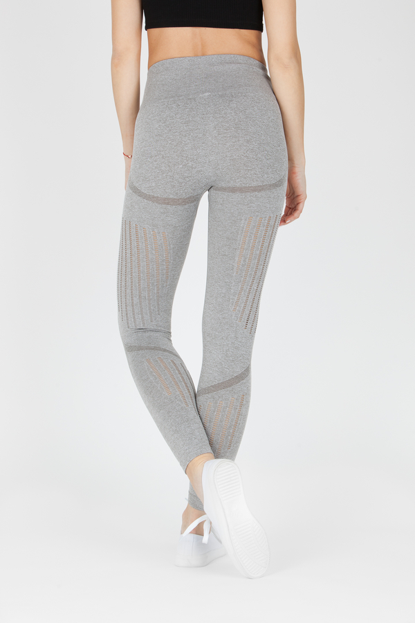 Naine 4.0. Bezešvé Legíny Stripes - Grey, L - 2