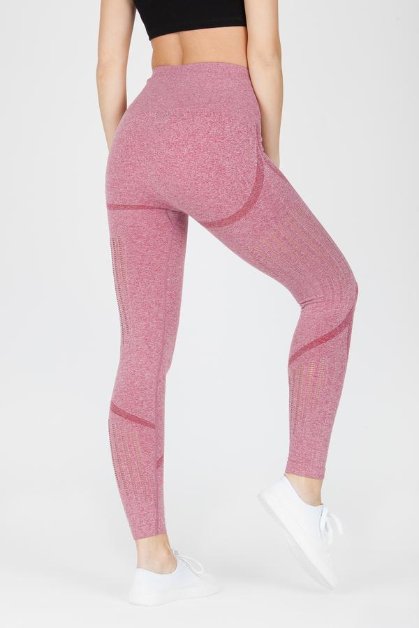 Naine 4.0. Bezešvé Legíny Stripes - Pink, M - 2