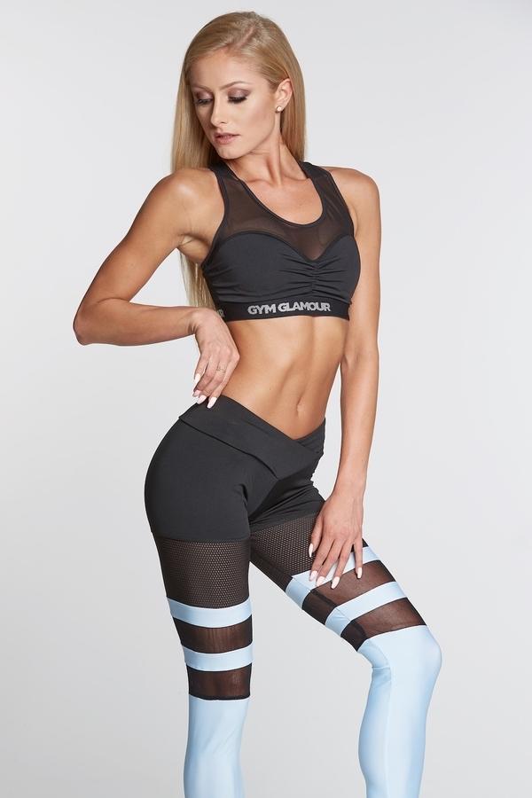 Gym Glamour Legíny Mesh And Blue Socks, XS - 2