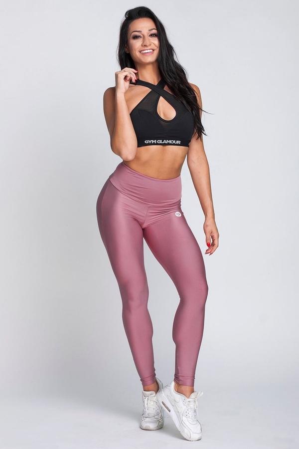 Gym Glamour Legíny High Waist Dirty Pink - 2