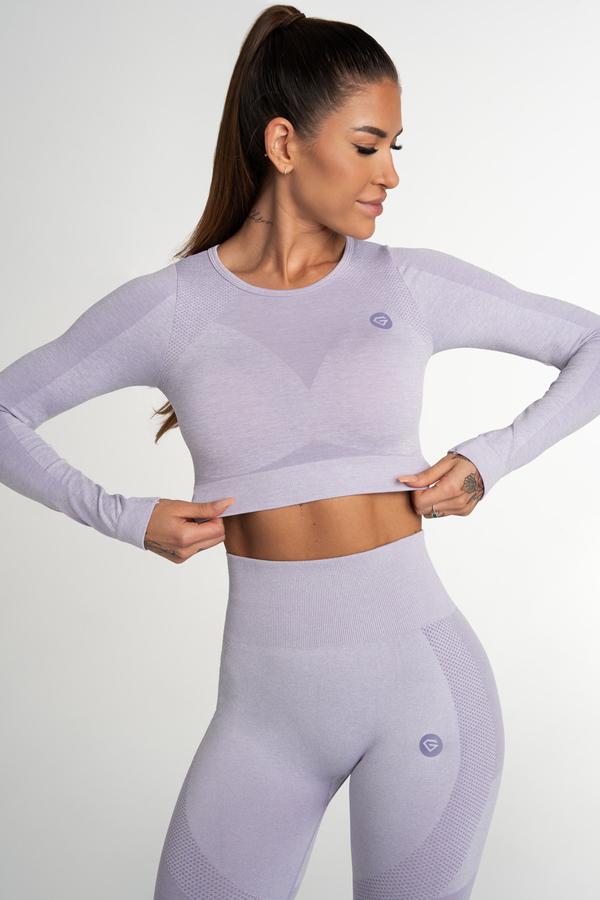 Gym Glamour Crop Top Bezešvý Fusion Lavender, S - 2