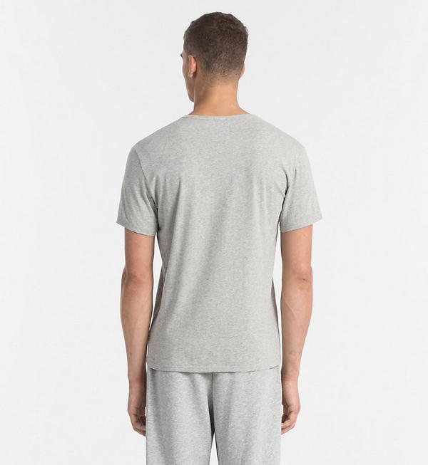 Calvin Klein Pánské Tričko S Logem Šedé, M - 2