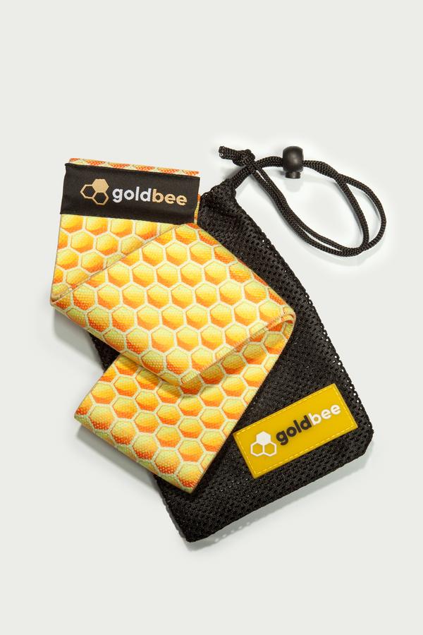 GoldBee Textilní Odporová Guma Honeycombs, S - 2