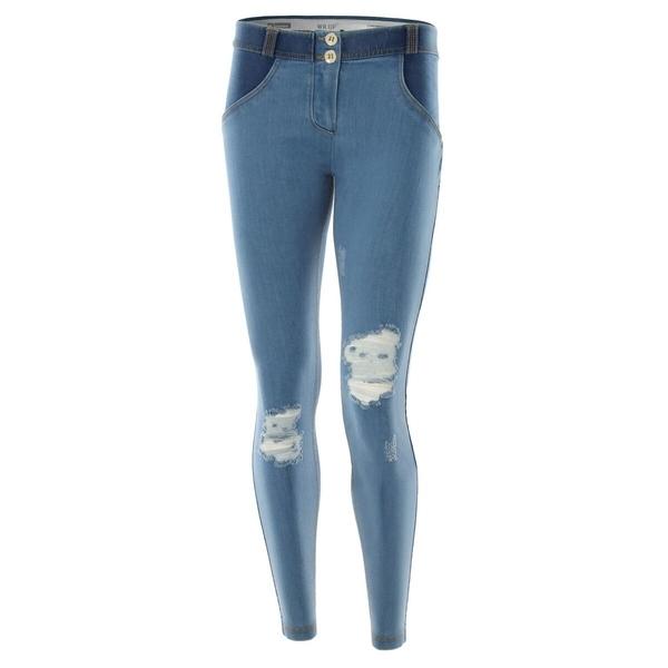 Freddy Jeans Světle Modré Potrhané FW17, S - 2